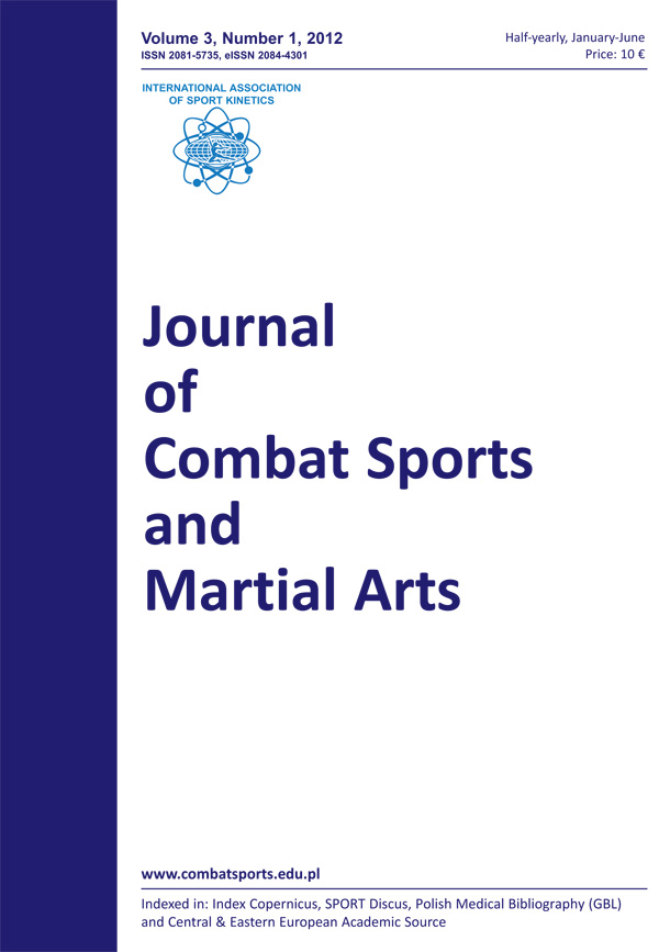 Journal of Combat Sports and Martial Arts